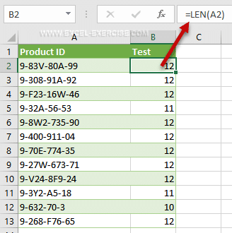 LEN function - Count The Number of Charaters in a String