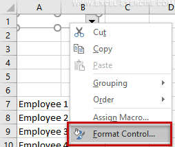 Option for the dropdown button