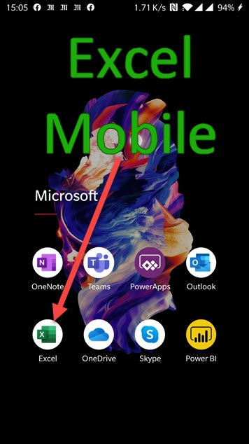 Excel on your mobile