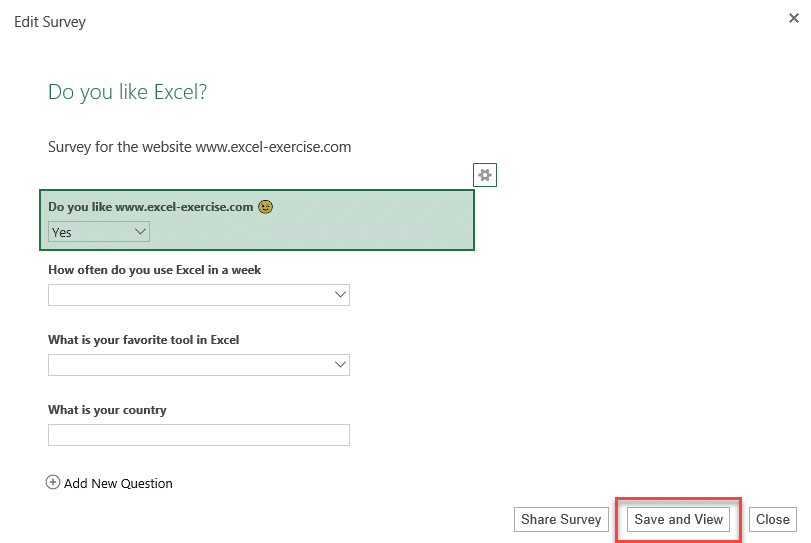 How to create an online survey with Excel?