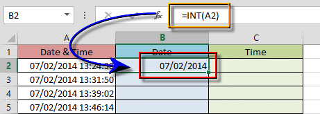Split Time and Date in Excel