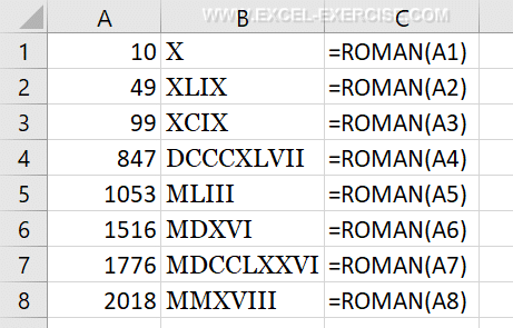 Convert roman numerals with Excel - Excel Exercise