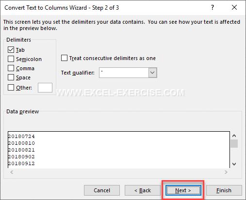 Convert YYYYMMDD to DD/MM/YYYY with Excel