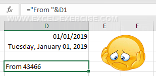 In a formula, the date format is lost