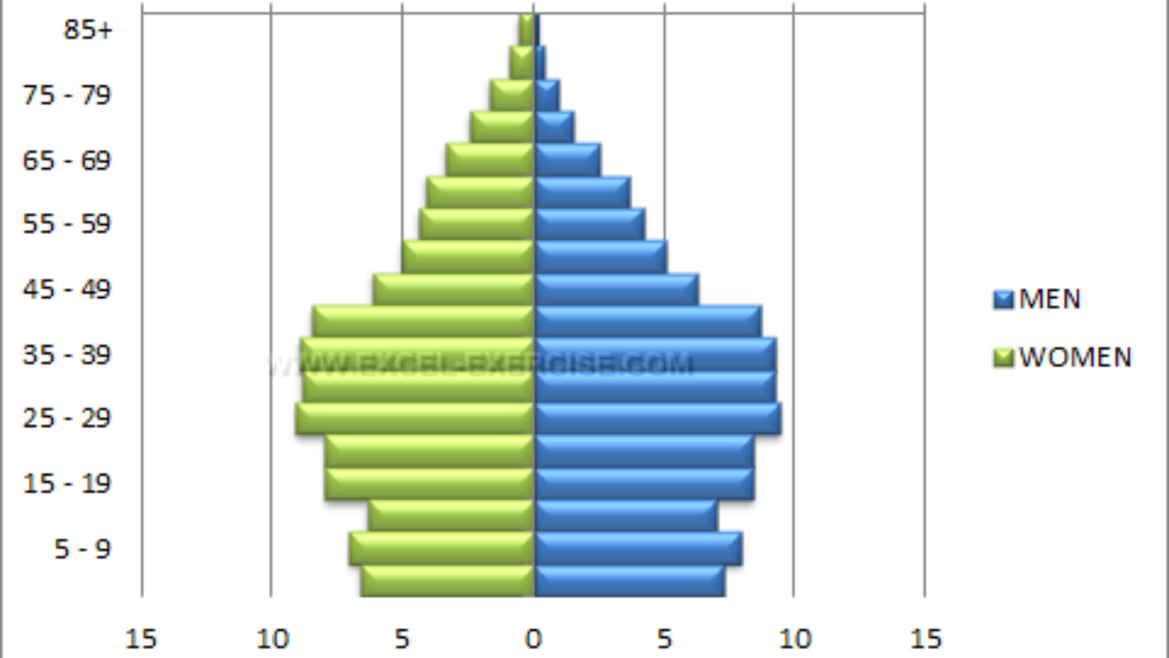 Population Pyramid - Excel Exercise