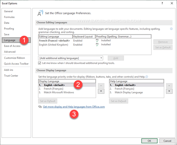 Change the language of Microsoft Office