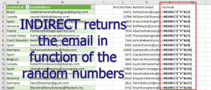 List of email extract randomly
