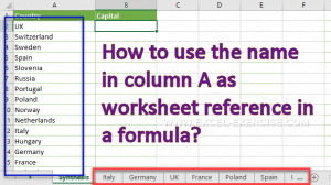 How to use the cell's contain in a reference