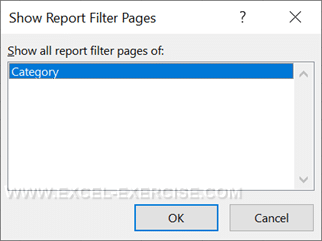 Select the filter to split your report