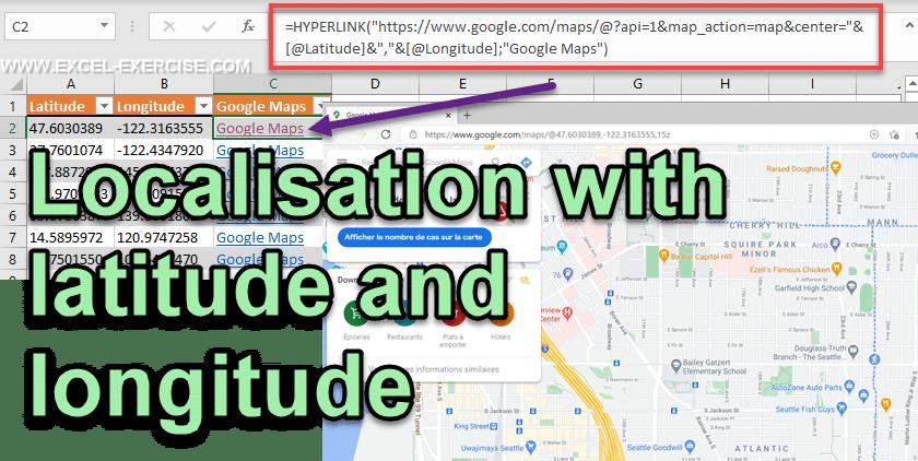 Localisation with latitude and longitude with Google Maps