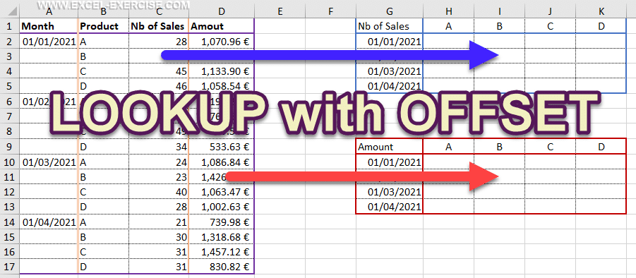 Lookup with offset