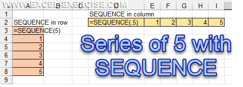 Principe of the SEQUENCE function