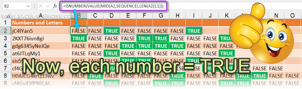With VALUE we are able to test when a character is a number